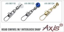 AX-96118; AX-96122; AX-96124 Head Swivel w/ Interlock Snap