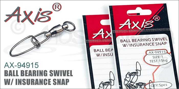 Изображение Axis AX-94915 Ball Bearing Swivel w/ Insurance Snap