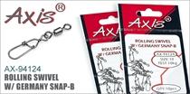 AX-94124 Rolling Swivel w/ Germany Snap-B