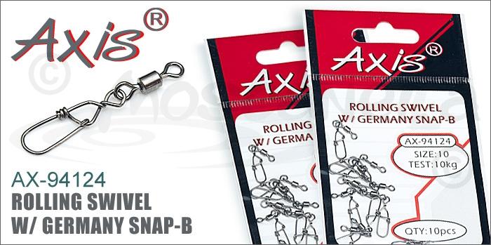 Изображение Axis AX-94124 Rolling Swivel w/ Germany Snap-B